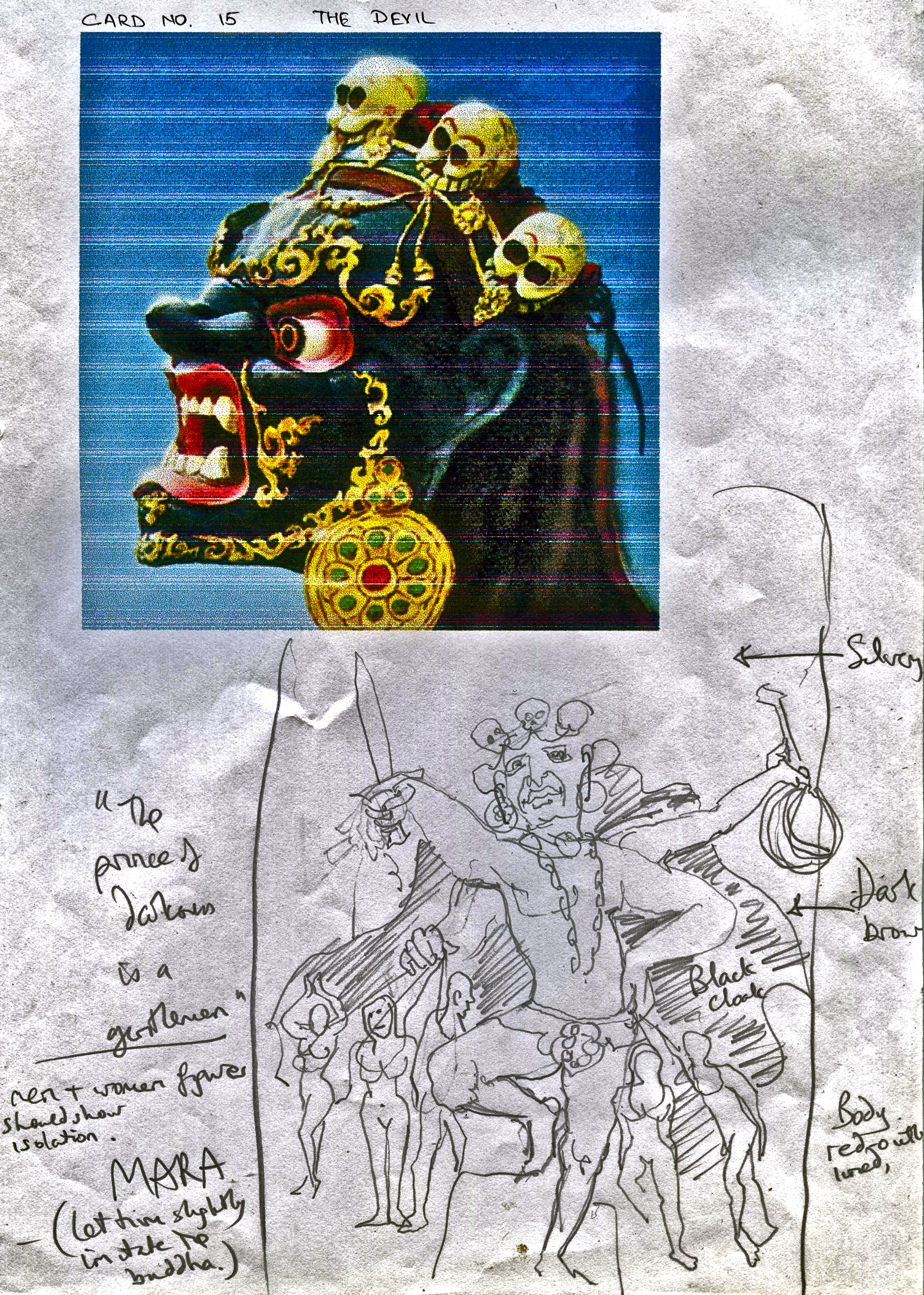 The Sacred India Tarot: Creation Of The Devil Card