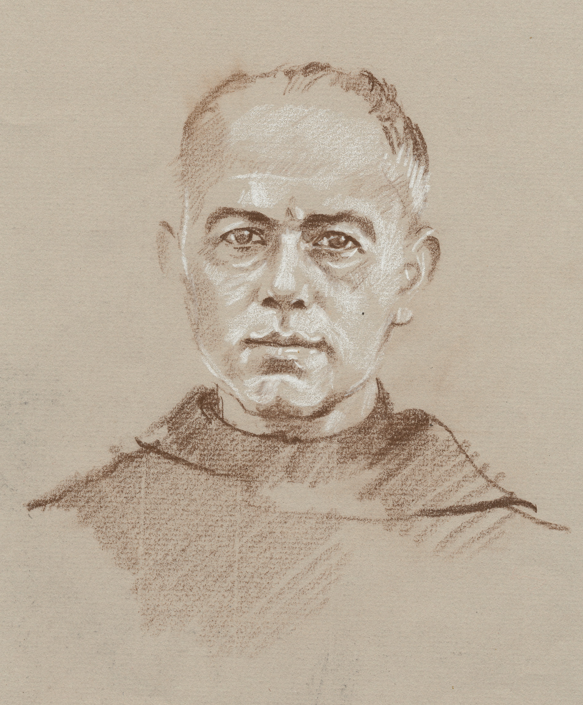 sketches of father maximilian kolbe janeadamsart. Black Bedroom Furniture Sets. Home Design Ideas