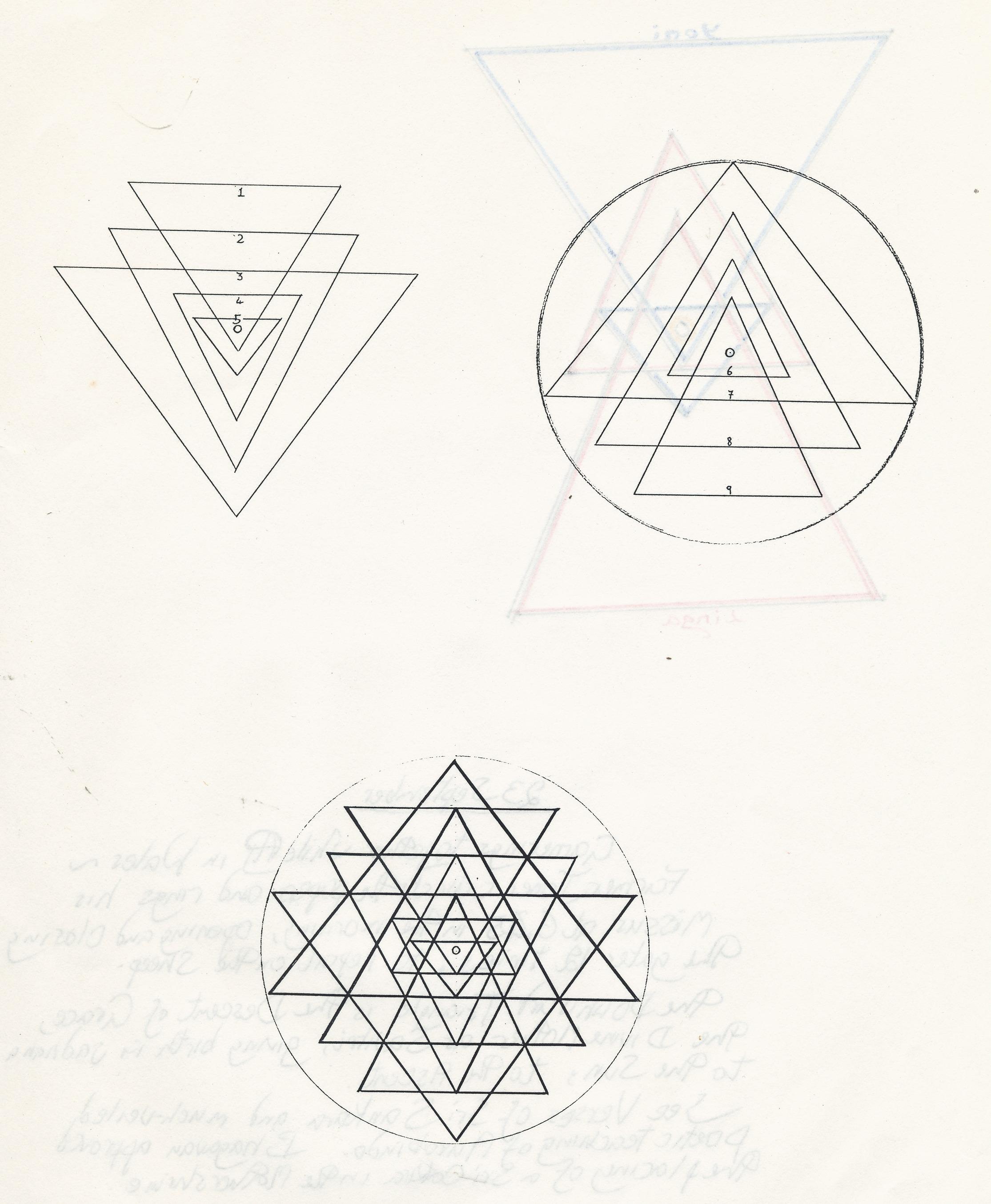 Drawing the Sri Chakra Yantra: some early Notes | janeadamsart