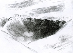 129 Mt Canigou, Pyrenees/recklessfruit2/janeadamsart