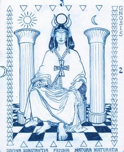 Priestess 2 Hermetic tarot