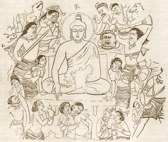Visual reference for Buddha's enlightenment