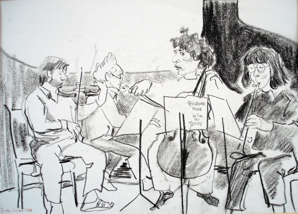 Steven Isserlis & friends rehearse Messiaen's Quartet for the End of Time at Wigmore Hall in '88