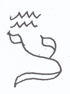 letter Tzaddi, Aquarius