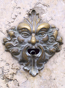 Green man door bell (Wikipedia)