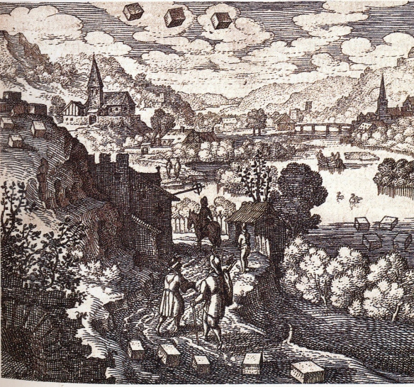 The source material for the lapis can be found everywhere: in the earth, on the mountains, in the air and in the nourishing water. M.Maier, Atlalanta fugiens, Oppenheim 1618