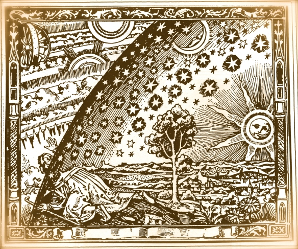 old Kabbalah engraving - look through into Beriah