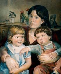 Eileen Coffey & the kids - ja 1985