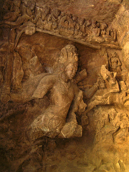 Siva slays Andhaka, Elephanta caves
