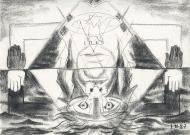 5 Light & Dark - after Eliphas Levi, 1987