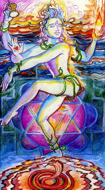 Sacred India Tarot 21 Natarajan The World