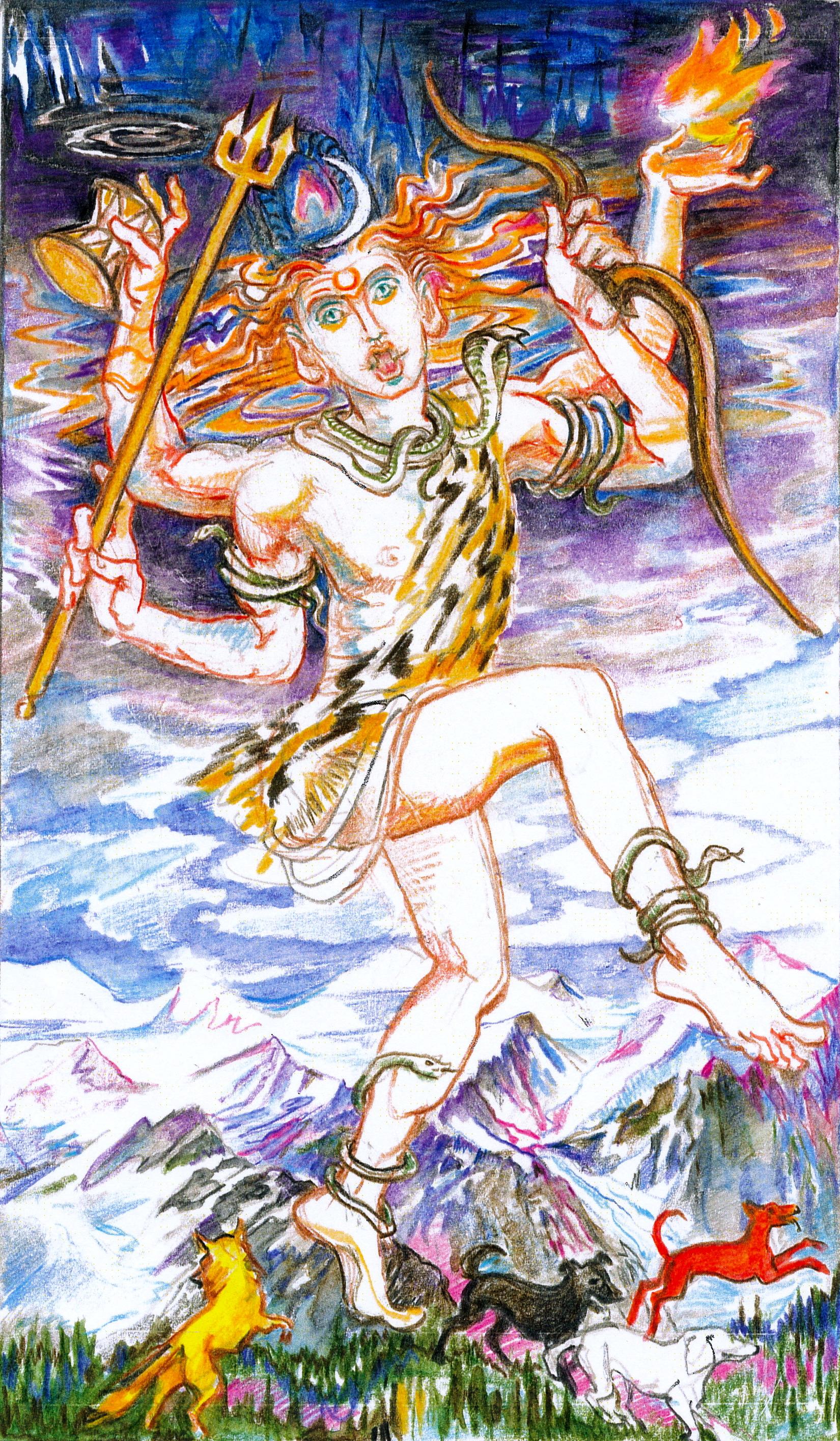 Sacred India Tarot FOOL Rudra Brahman