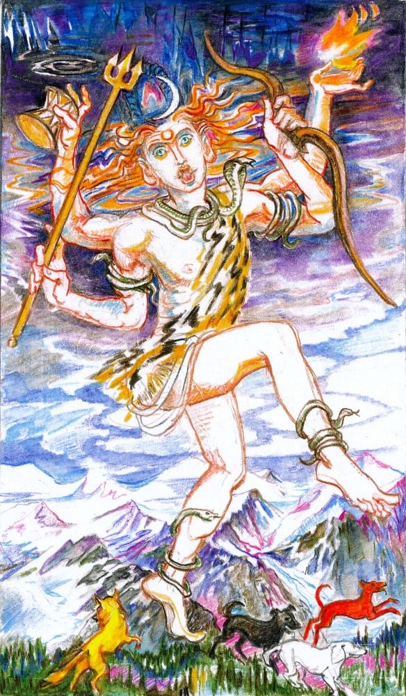 Sacred India Tarot - wild card THE FOOL - Rudra Brahman