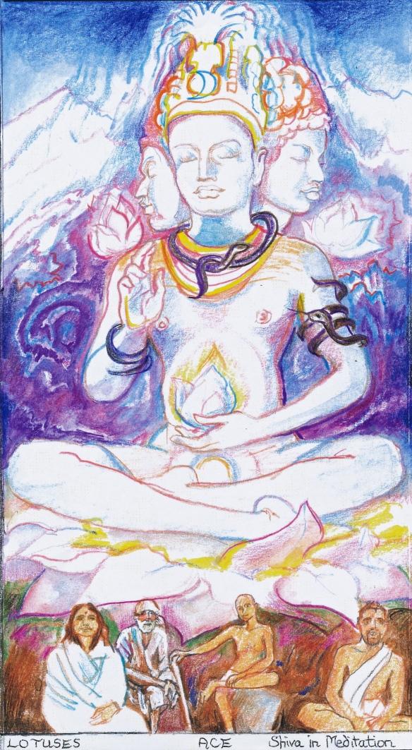 Sacred India Tarot Siva Ace of Lotuses