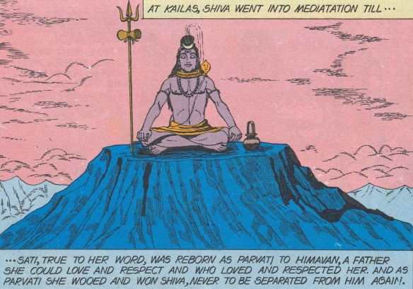 Siva meditates - comicbook visual reference