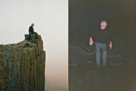 We went along the enormous rocky beaches, and scrambled back in the dark
