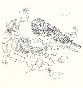 """""""Well my friends,"""" said K.S. Owl when they reached his tree, """"I have studied many great tomes this night."""" """"Tomes?"""" Featherhead interrupted - """"what are tomes?"""" """"Books,"""" replied the Owl."""