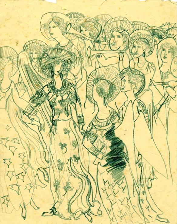 Angel choir, 1957