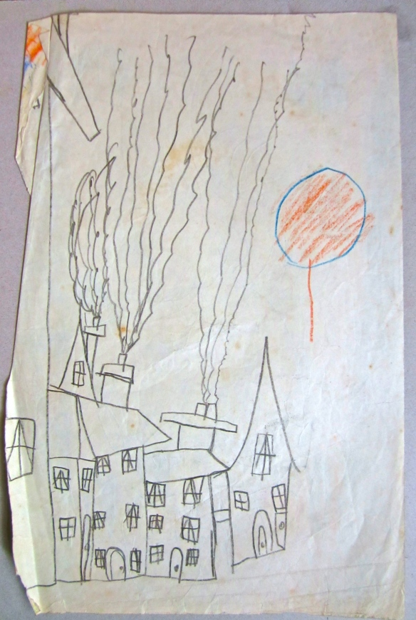 chimneys and balloon 1954