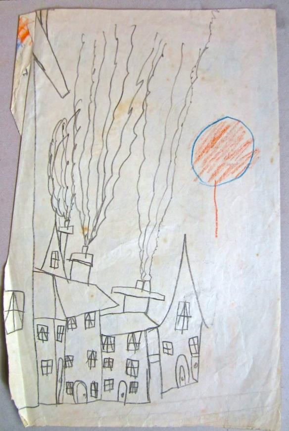 chimneys and balloon 1954