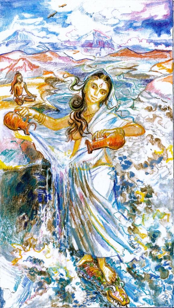 Sacred India Tarot 14 - Mother Ganga