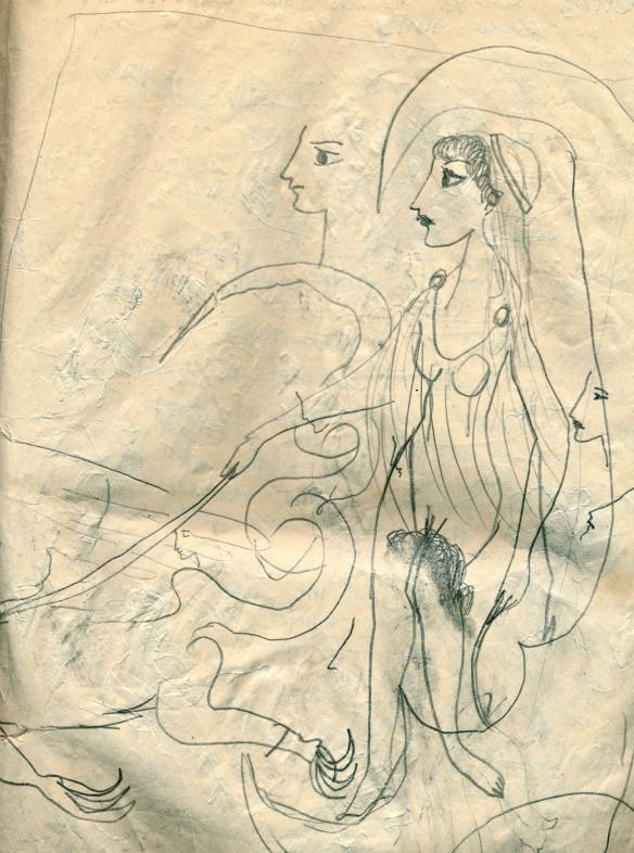 goddess driving tritons, 1957
