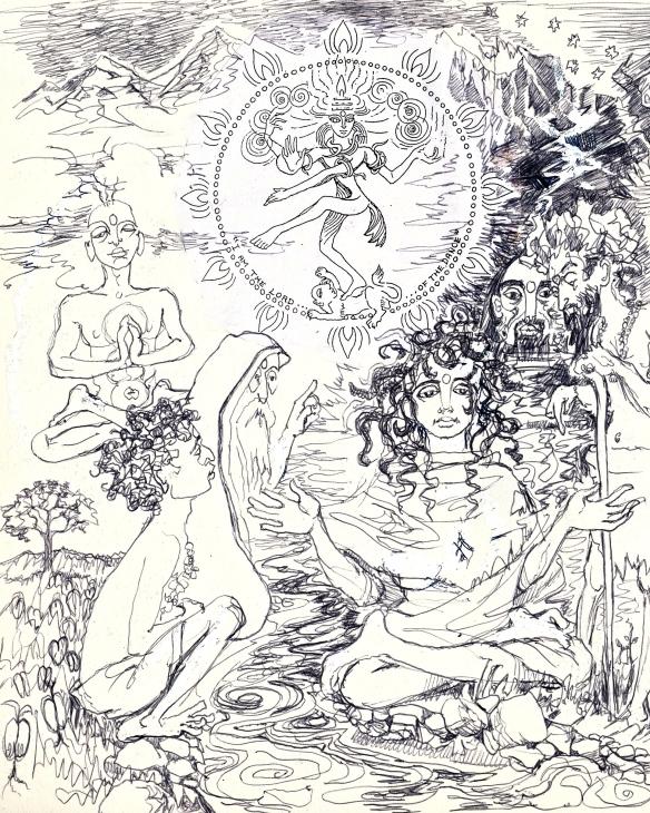 Parvati pestered by sages - detail