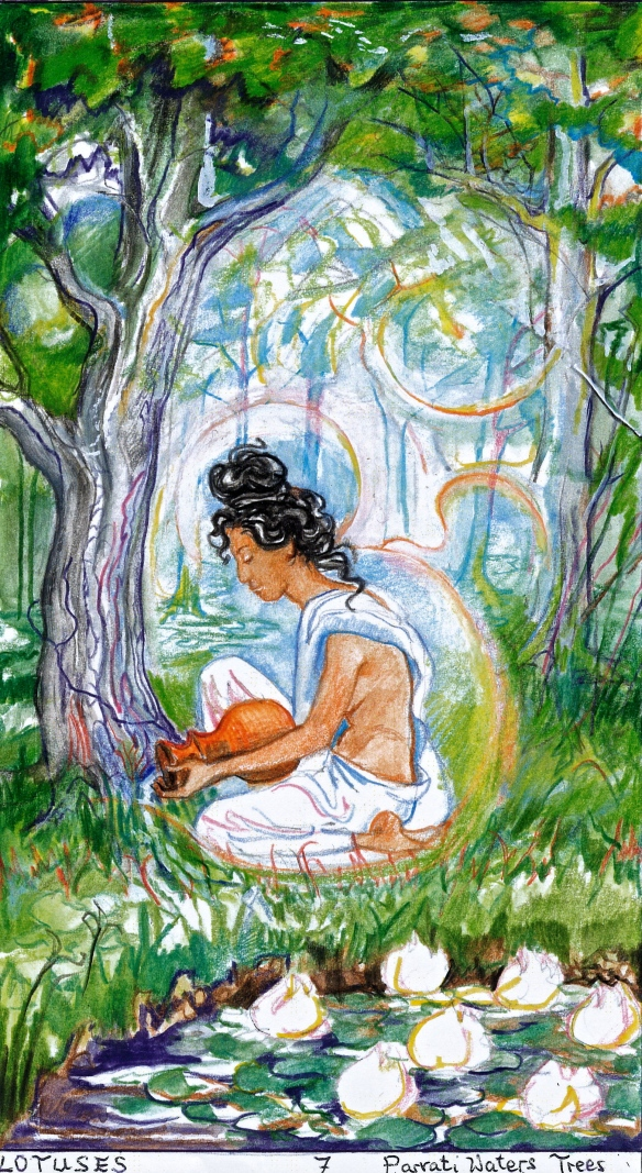 Sacred India Tarot - 7 Lotuses