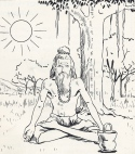 I don't know who drew this charming Sivaic hermit