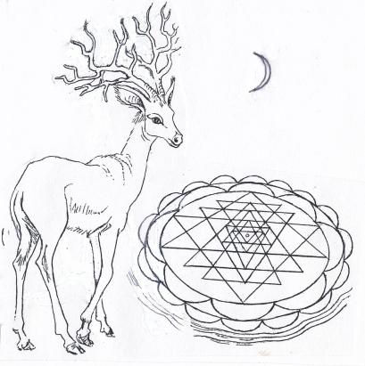 40 deer Sri Yantra