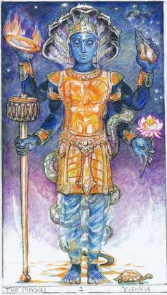 Vishnu Granthi (Sacred India Tarot)