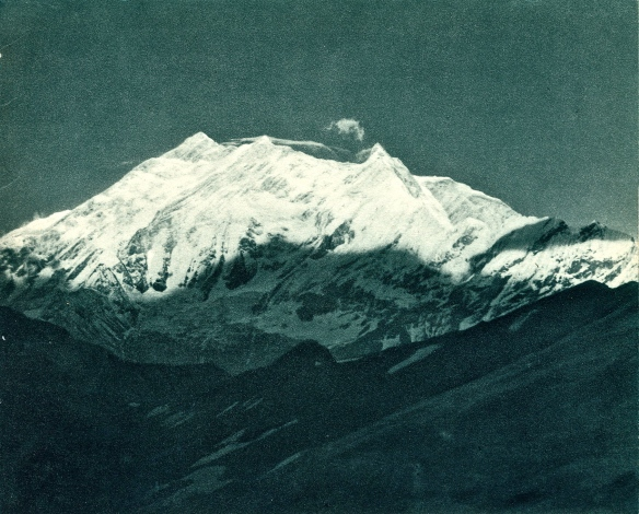 Annapurna as glimpsed from the Pass of 27 April 1950