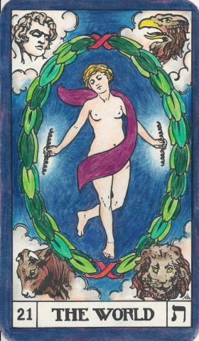 Root Chakra: Tarot Key 21, The World - Saturn