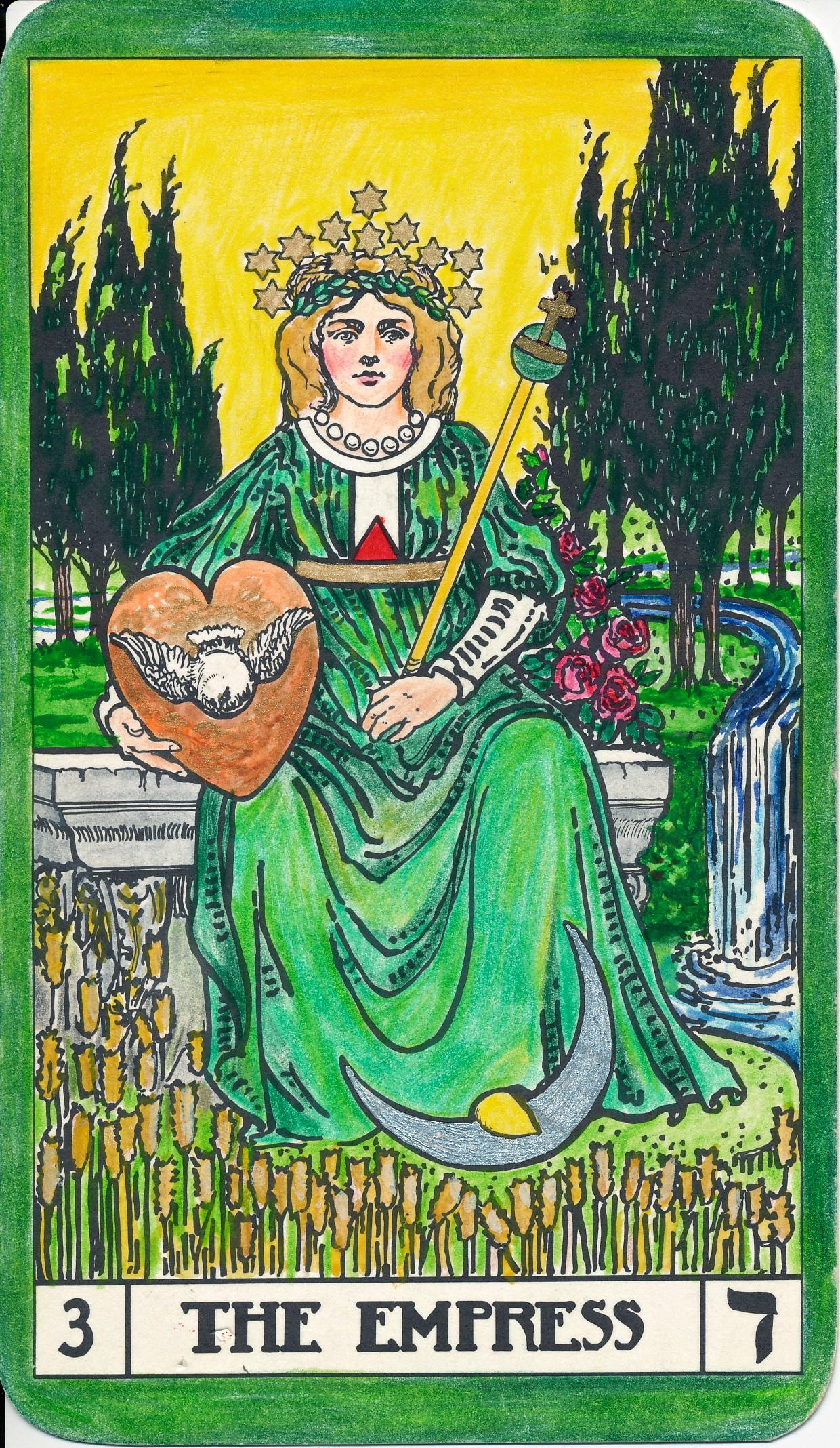 The Empress And Death Antique Tarot Cards: Bota Key 3 Empress