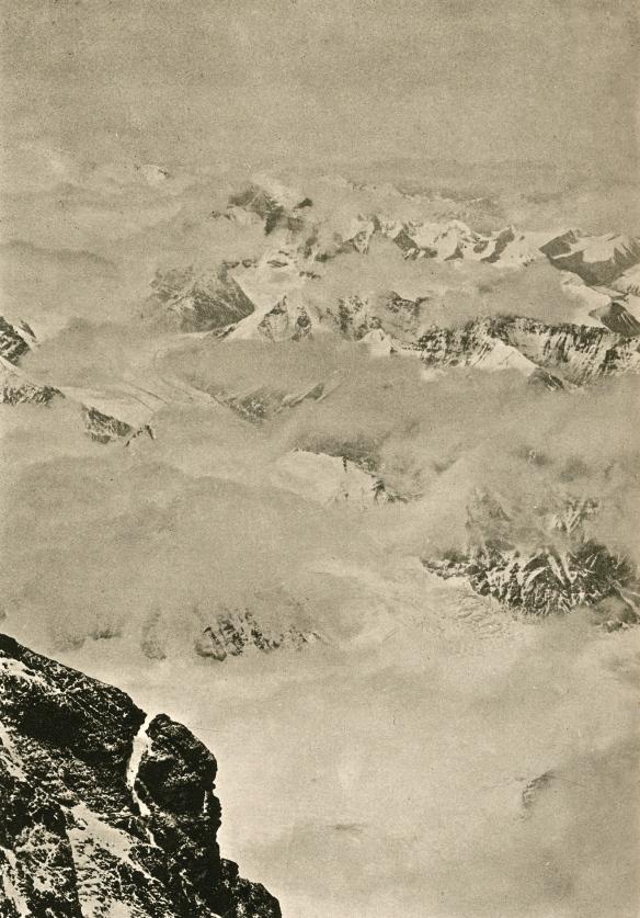 Photo taken from FS Smythe's highest point on Everest, 1933