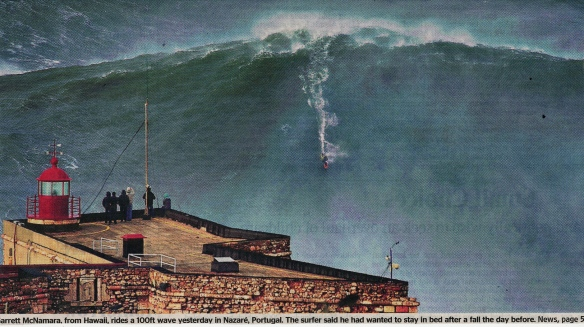 a high wave in Portugal