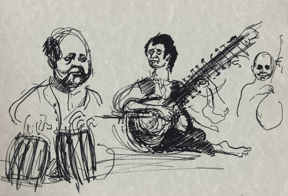 Ravi Shankar & tabla, circa 1967