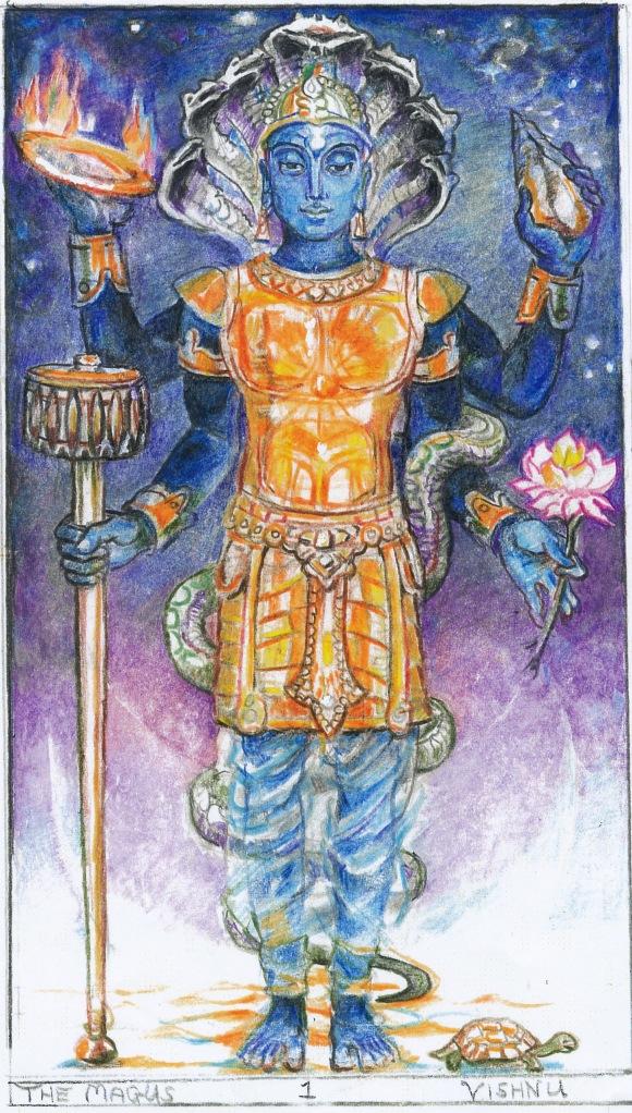 Sacred India Tarot Vishnu Magus
