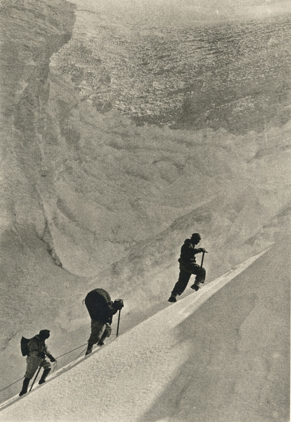 3 Granthis on Everest!  Photo by F S Smythe, 1930s
