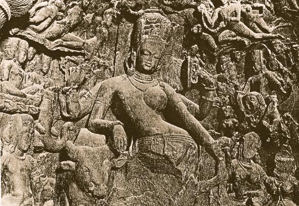 Ardhanariswara in Elephanta cave