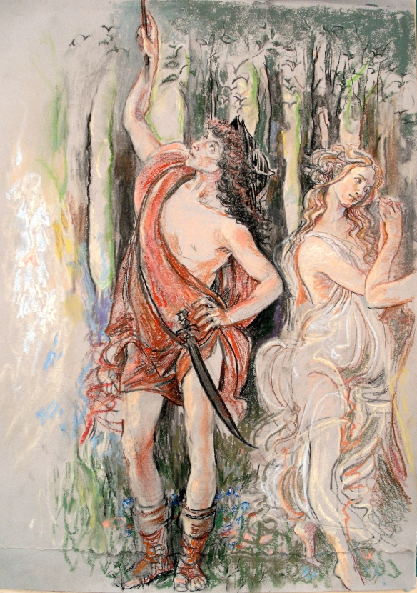 Mercury, after Botticelli, 2009