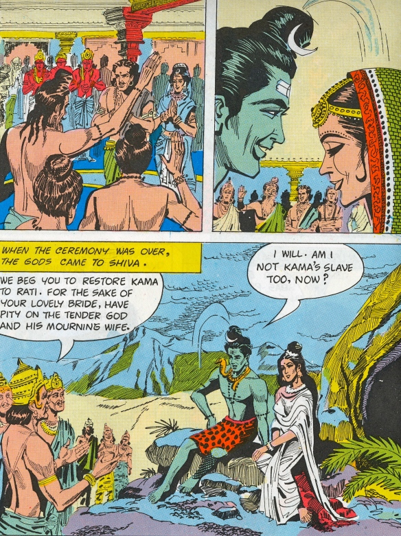 Visual reference from comic book - the marriage of Siva & Parvati, and the gods petition Siva