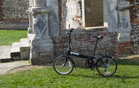 bike and Tudor ruin