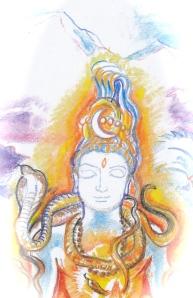 Sacred India Tarot 3 of lotuses - Version 2