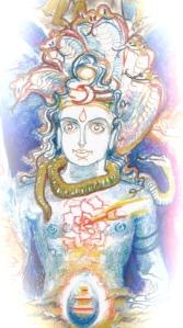 Sacred India Tarot 4 of lotuses version 1 - Version 3