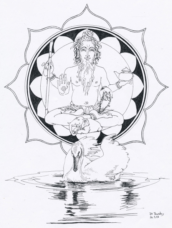 Vastospati as Jyotish Guru;  Swan of Brahma