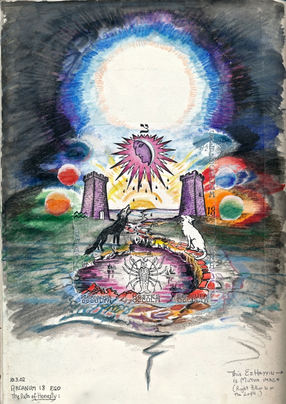 Tarot Arcanum 18 - The Moon (landscape)