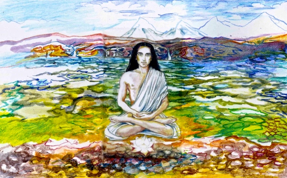 Sacred India Tarot - Babaji landscape