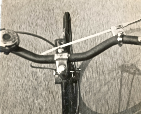 This photo was taken in 1968 - my first bike.  He was called Black Colin.  I rode him all over the Quantock and Brendon Hills and lived my map.  My mother and I were reminiscing about him last week, as he was her bike during the war, and she rode him from Edinburgh to Inverness.  He was an old Raleigh, and very strong.