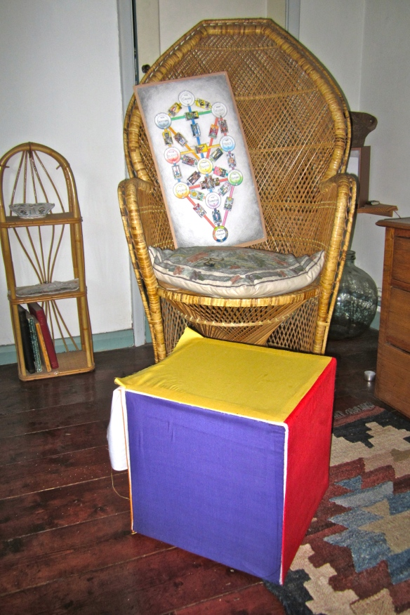 cube with chair & tarot tree